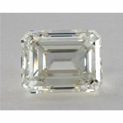 1.67 ct 7.90 x 6.80 mm VS2 Off White Yellow Emerald Cut Loose Moissanite AUD