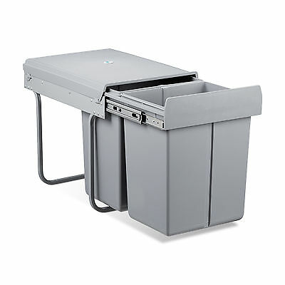 Waste Separation System Compost Bin Recycling Dustbin Trash Separator Double