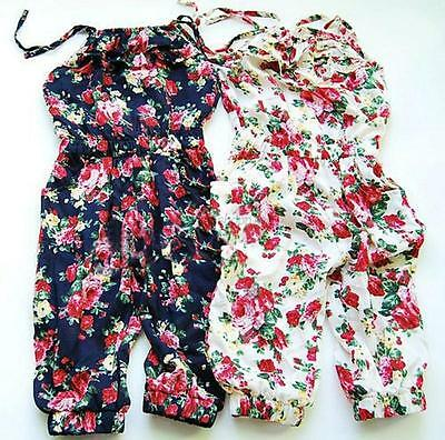 AU Child Toddler Girls Jumpsuit Short Summer Playsuit Clothing One-piece 2-8Y