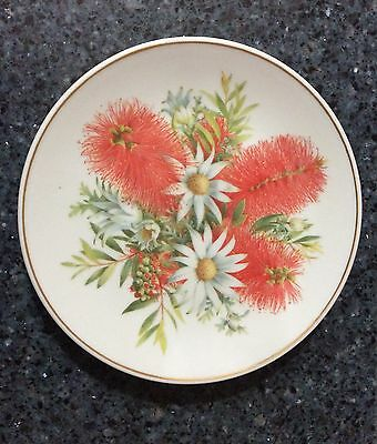 The Floral Collection Flannel Flower, Bottlebrush Plate Made in China