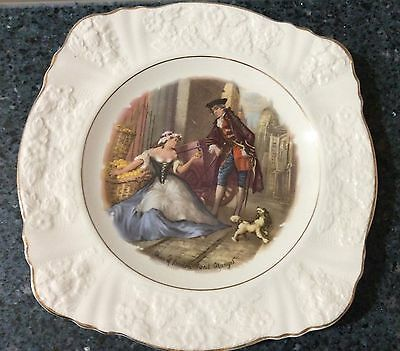 """J & G Meakin Embossed """"CRIES OF LONDON""""  Plate Made in England"""