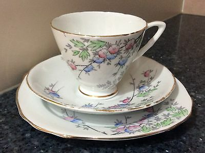 Royal Stafford Cup, Saucer & Side Plate Trio Made in England