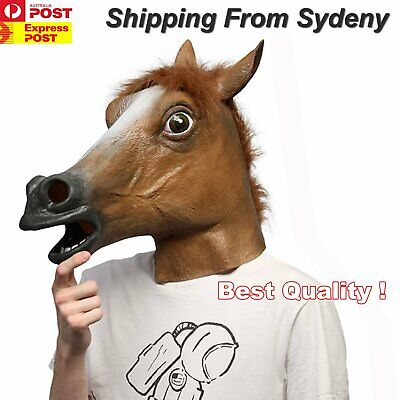 Horse Head Mask Latex Animal  Costume Prop Gangnam Style Party Halloween Funny