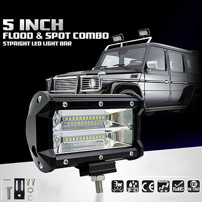 """5"""" inch 72W Flood LED Work Lights Bar Truck Jeep Offroad Driving Lamp DC10-48V"""