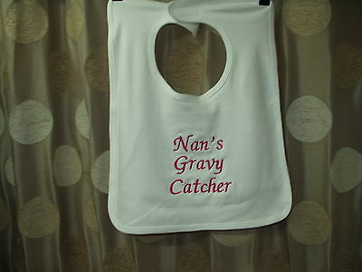 Nan's Gravy Catcher giant adult bib cotton