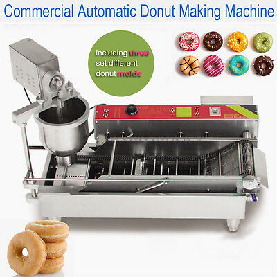 with three different donut molds,automatic electric donut machine,CE approved