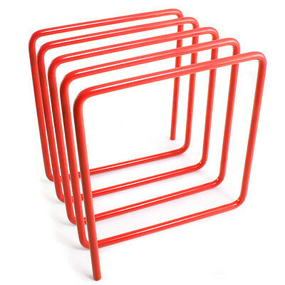 Orange Steel Magazine Rack