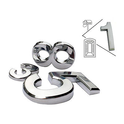 0-9 Numbers Modern House Plaque Mail Box Silver Number Digits for Address