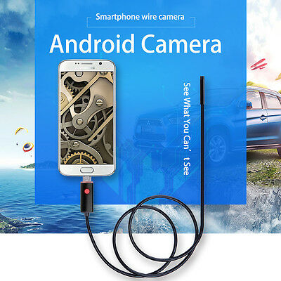 10M 5/7/8mm 6LED Android Endoscope USB Waterproof Borescope Inspection Camera US