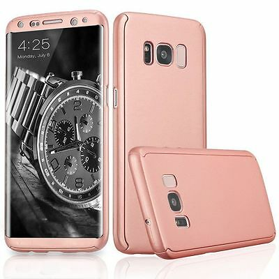 New 360° Case For Samsung Galaxy s8 Plus + Rose Gold Bundled