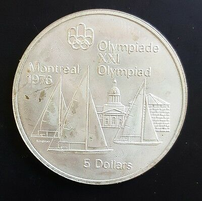 1973 Canada $5 Silver Coin Summer Olympic Games (Sailboats) UNC...