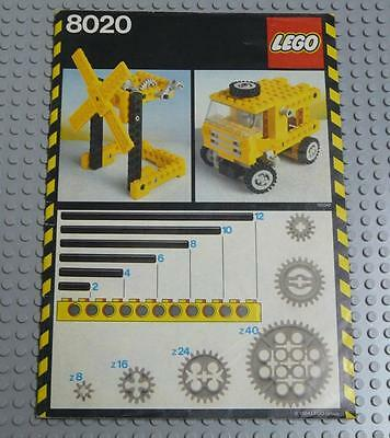 LEGO INSTRUCTIONS MANUAL BOOK ONLY 8020 Building Set x1PC
