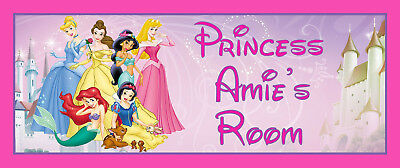 Disney Princess handmade wooden personalised door plaque sign any name gift