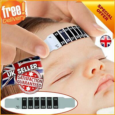 Kids Forehead Strip Head Thermometer Check Childs/Baby Fever Body Temperature UK