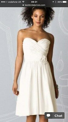 3ad818e352ac Stunning Dessy After Six 6609 Bride / Bridesmaid / Prom dress Size 12 Ivory