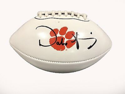 Dabo Swinney Clemson Tigers Signed Logo Football JSA