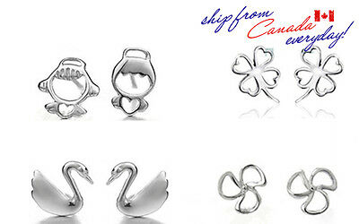 Adorable S925 Sterling Silver Earring Studs/4 Different Styles /18k GP