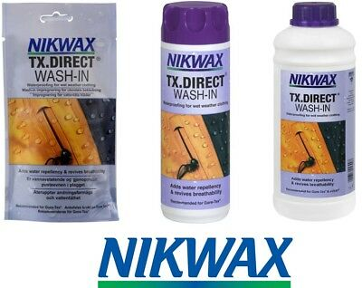 Nikwax TX Direct Wash-In - Waterproofing for wet weather clothing - 3 Sizes