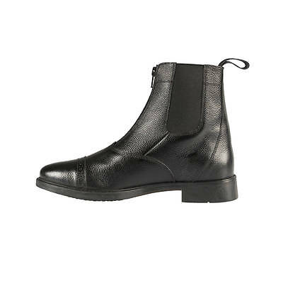 Horze Black Classic Leather Zip Up Equestrian Riding Paddock Boots