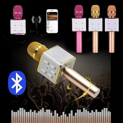 Q7 Wireless Bluetooth Karaoke Microphone USB Speaker Mini Home KTV Music Player