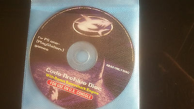PS1 Game GameShark  Code Archive Disc PS1PLAYSTATION enhancement tool ENGINE