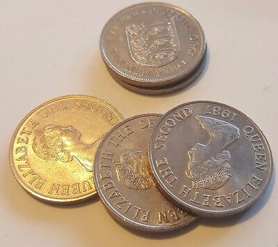 Jersey 10 Pence Coin, 1980 - 1987 . choose year,  One lucky Penny gift