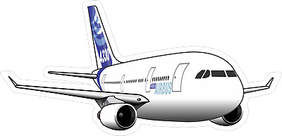 Airbus A330 aircraft sticker