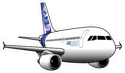 Airbus A320 aircraft sticker