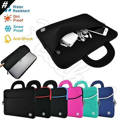 """Slim Notebook Sleeve Carrying Case Cover Bag Handle for 15"""" - 15.6"""" Inch Laptop"""