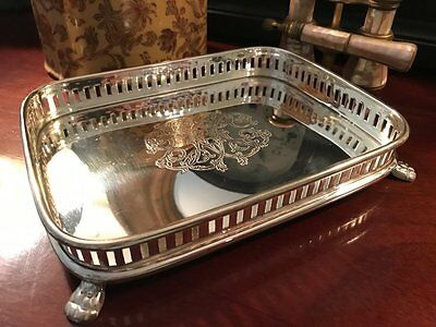 NEW Silver Tray Gallery Footed Rectangular Jewelry