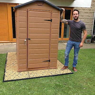 GARDEN SHED BASE KIT 6x4 ft+MEMBRANE & CLIPS 4x6 PLASTIC PAVERS DRIVEWAY GRIDSem