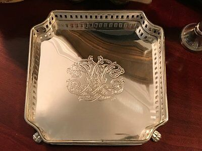 NEW Silver Tray Gallery Footed Square Jewelry