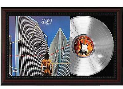 Yes - Platinum LP Record With Reprinted Autographs In Cherry Wood Frame