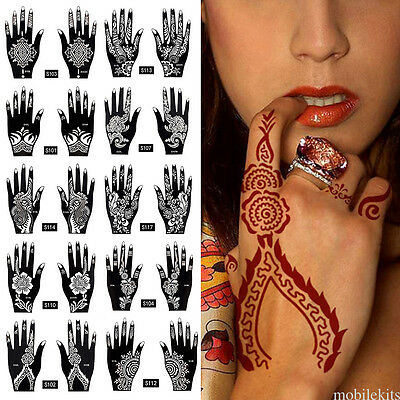 2 Sheets Hand Tatoo Temporary Disposable Tattoos Body Art Sticker Removable