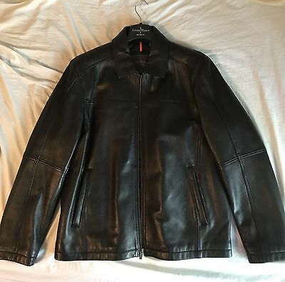 Cole Haan Men's Leather Jacket - MINT CONDITION! GENUINE LAMBSKIN!