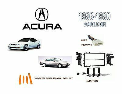 new 1996-1999 acura cl, tl car stereo double din dash kit, wire