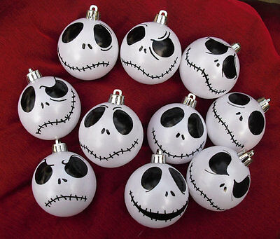 2-12 Nightmare Before Christmas Jack Skellington baubles white  Halloween gift