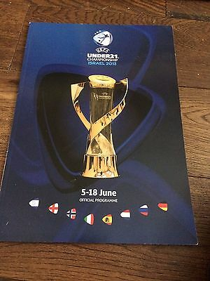 UEFA Euro U21 Official Tournament Programme 2013 ISRAEL RARE