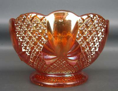 FOREIGN CARNIVAL GLASS - SOWERBY PINEAPPLE Marigold Round Bowl 586