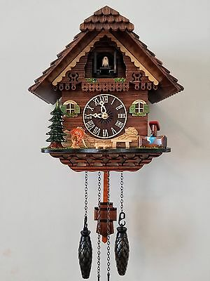 German Black Forest Handmade Cuckoo Clock-Deers and Well with Music Play 969