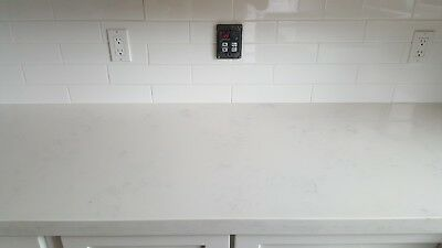 Pre-fabricated white marble like quartz Counter top Italian White