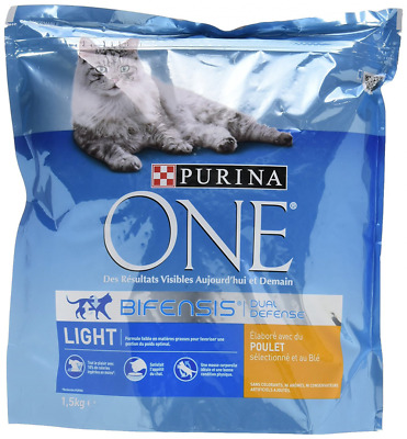 PURINA ONE Light Au Poulet et au Blé 1,5kg - Croquettes pour chat adulte - Lot d