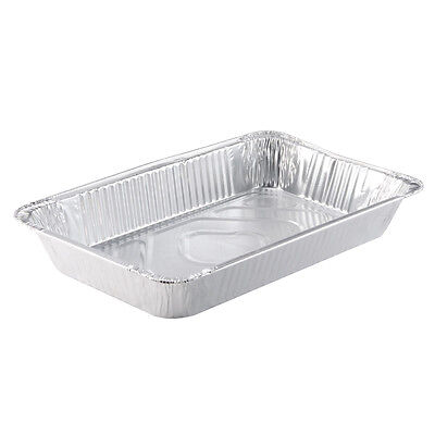 Pactiv Aluminum Full Size Deep Heavy Disposable Steam Table Pan 346 oz | 40/Case