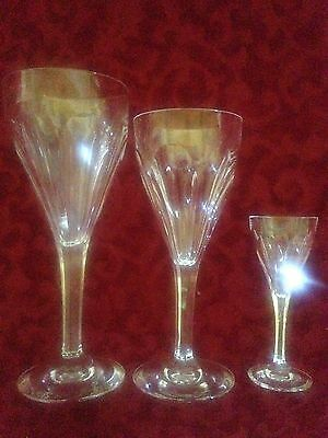 "23 Pieces of ""Bristol by St. Louis"" crystal glasses"
