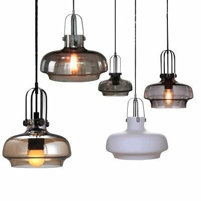 Retro Iron Glass Lampshade Chandelier Ceiling Light Dining Pendant Lamp Lighting