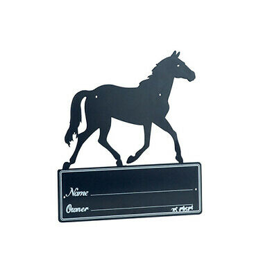 'Horse Silhouette' Stall Plaque