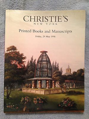 Christie's New York: Printed Books and Manuscripts 05/29/1998 - SB Auction Book