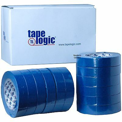 "Tape Logic 3000 T935300012PK Blue Painters Masking Tape, 1""x60 Yd. Box of 12 Rl"