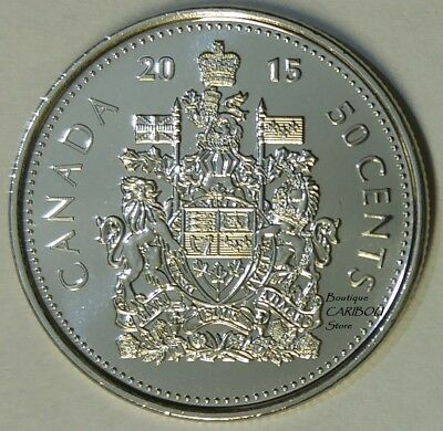 2015 Canada 50 Cents Coat of Arms BU