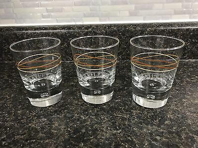 Set of 3 Bailey's Irish Cream Bubble Based Swirl Design Tumbler Glasses EUC